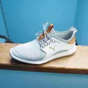 Puma Ignite PWRSport Golf Shoes 9 Quarry/White